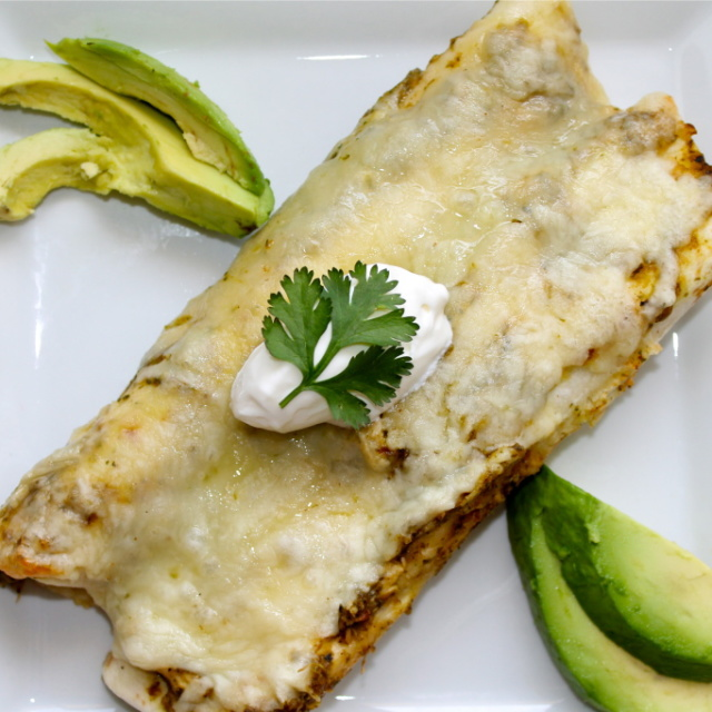Green Chile Enchiladas